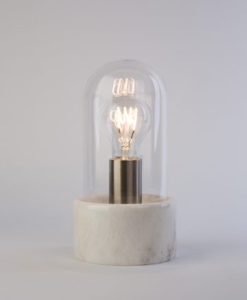 Oracle Marble & Glass Table Lamp white