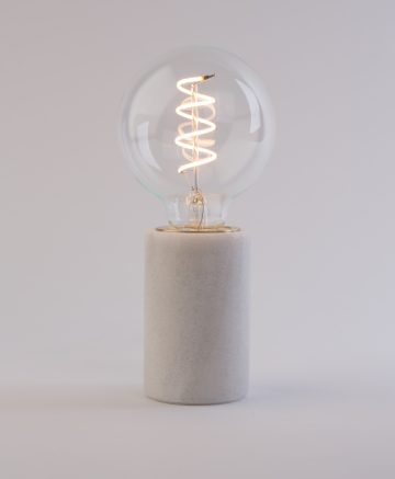 Oracle marble Table Lamp white