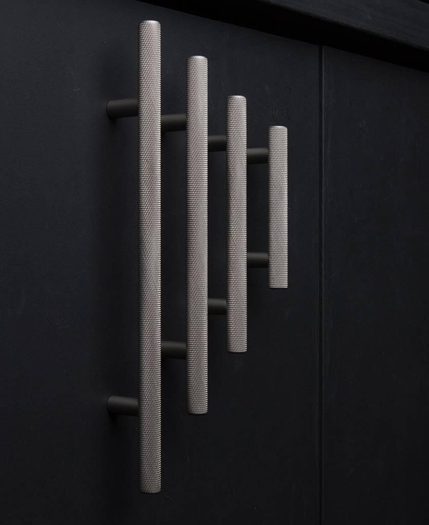 skyscraper knurled kitchen cupboard door handle