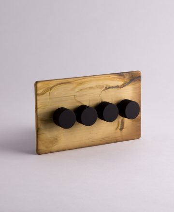 designer dimmer switch quadruple smoked gold & black