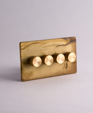 designer dimmer switch quadruple smoked gold & gold