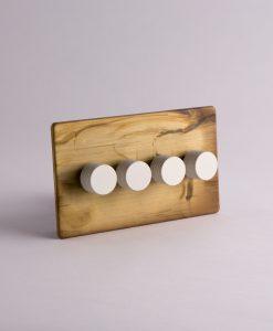 designer dimmer switch quadruple smoked gold & white