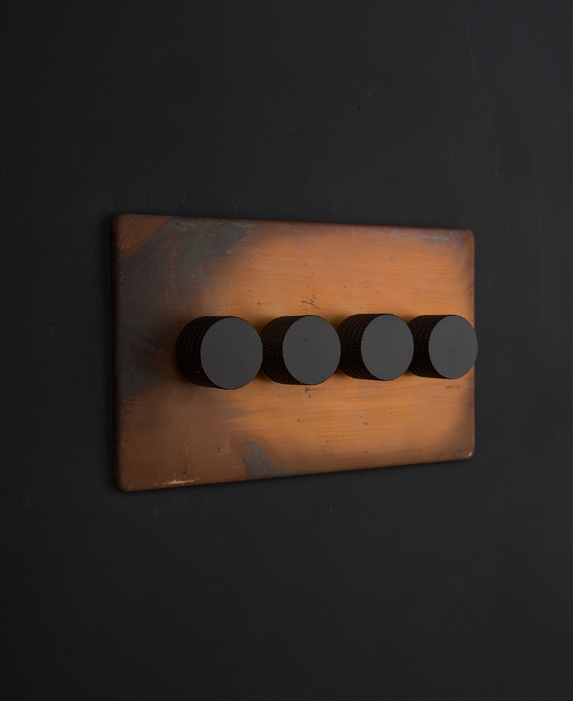 copper & black quad dimmer