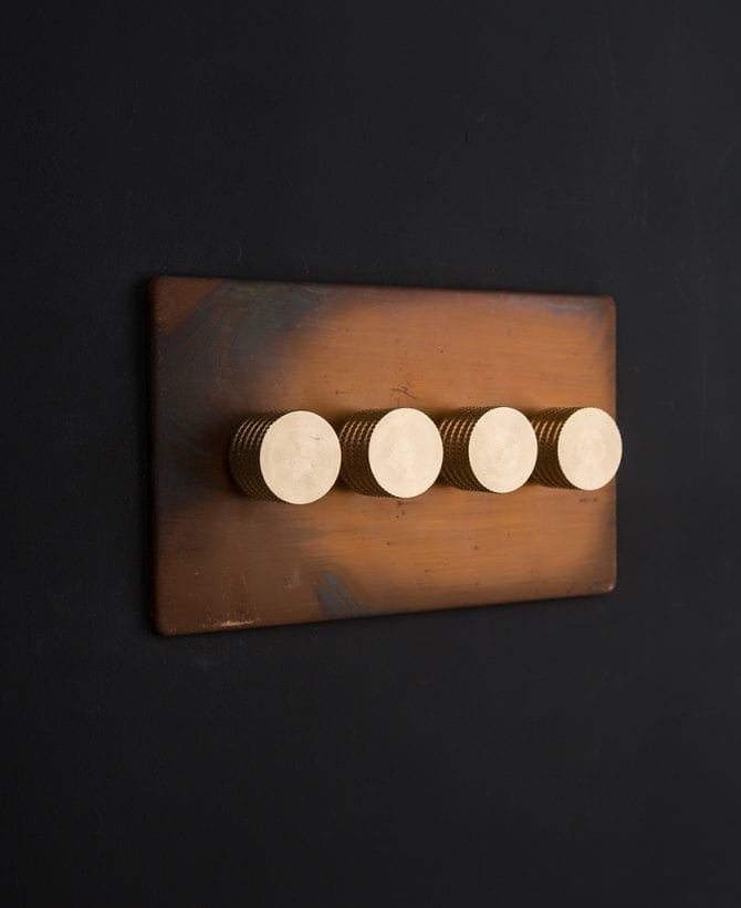copper & gold quad dimmer