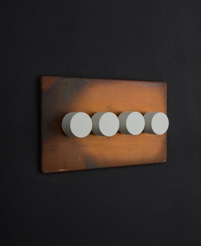 copper & white quad dimmer