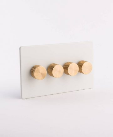 designer dimmer switch quadruple white & gold