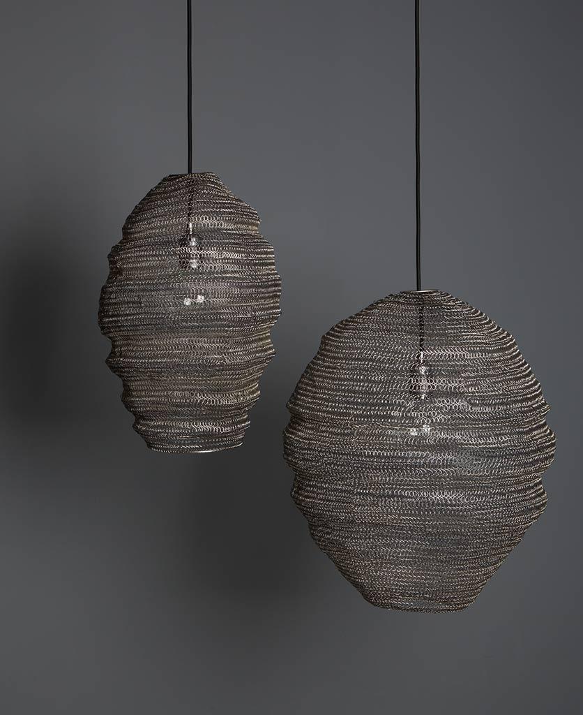 Baya Nest Lights Metal Mesh Pendant Lights Dowsing Reynolds