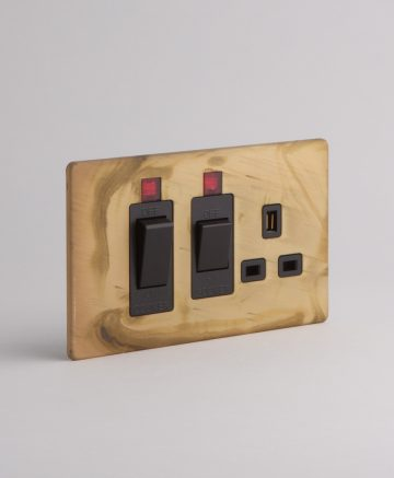 Cooker Switch & Socket Smoked Gold & Black