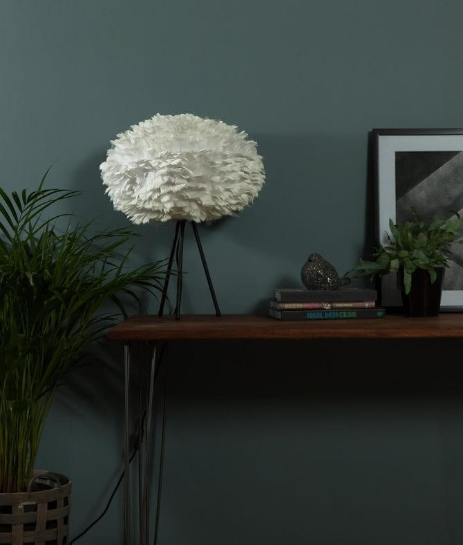 UMAGE EOS feather light shade table lamp