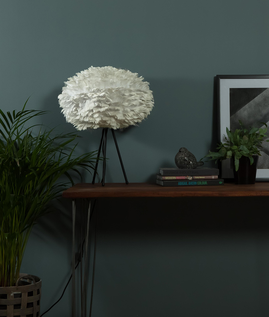 EOS feather light shade table lamp