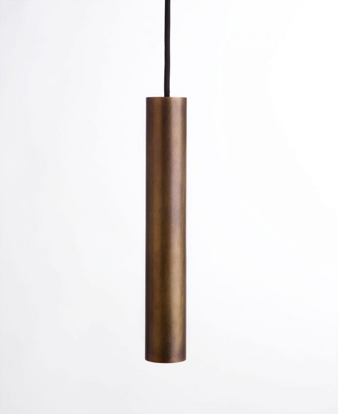 aged bronze pipe light