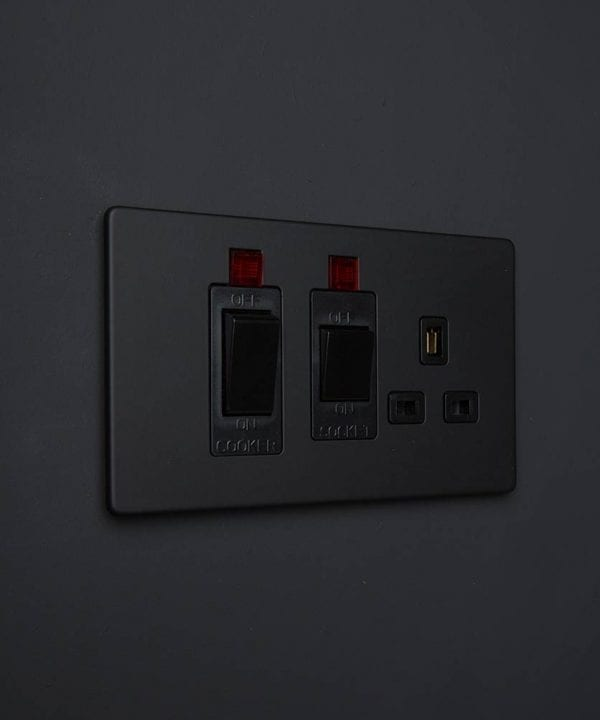 black cooker switch and socket