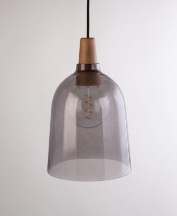 Karma Smoked Glass Wall Light pendant