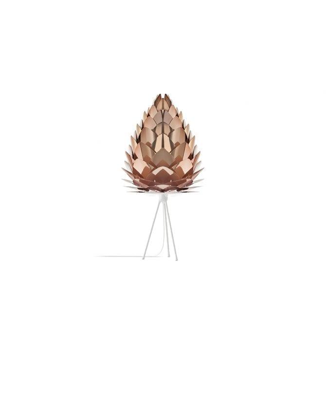 vita conia copper shade on white table stand