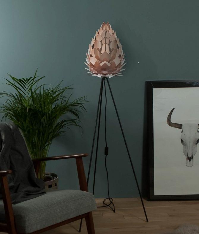 UMAGE copper conia floor lamp