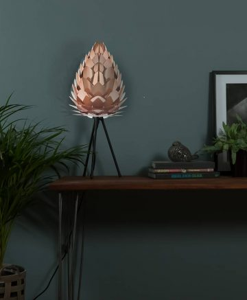 copper vita conia table lamp black tripod