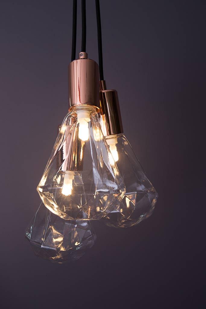 Kristal bulb pendant