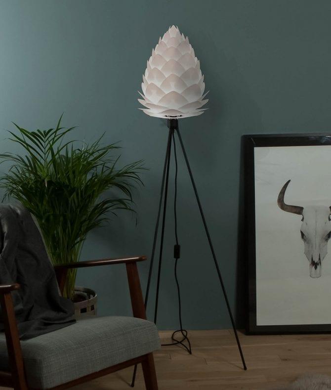 White Vita Conia floor lamp