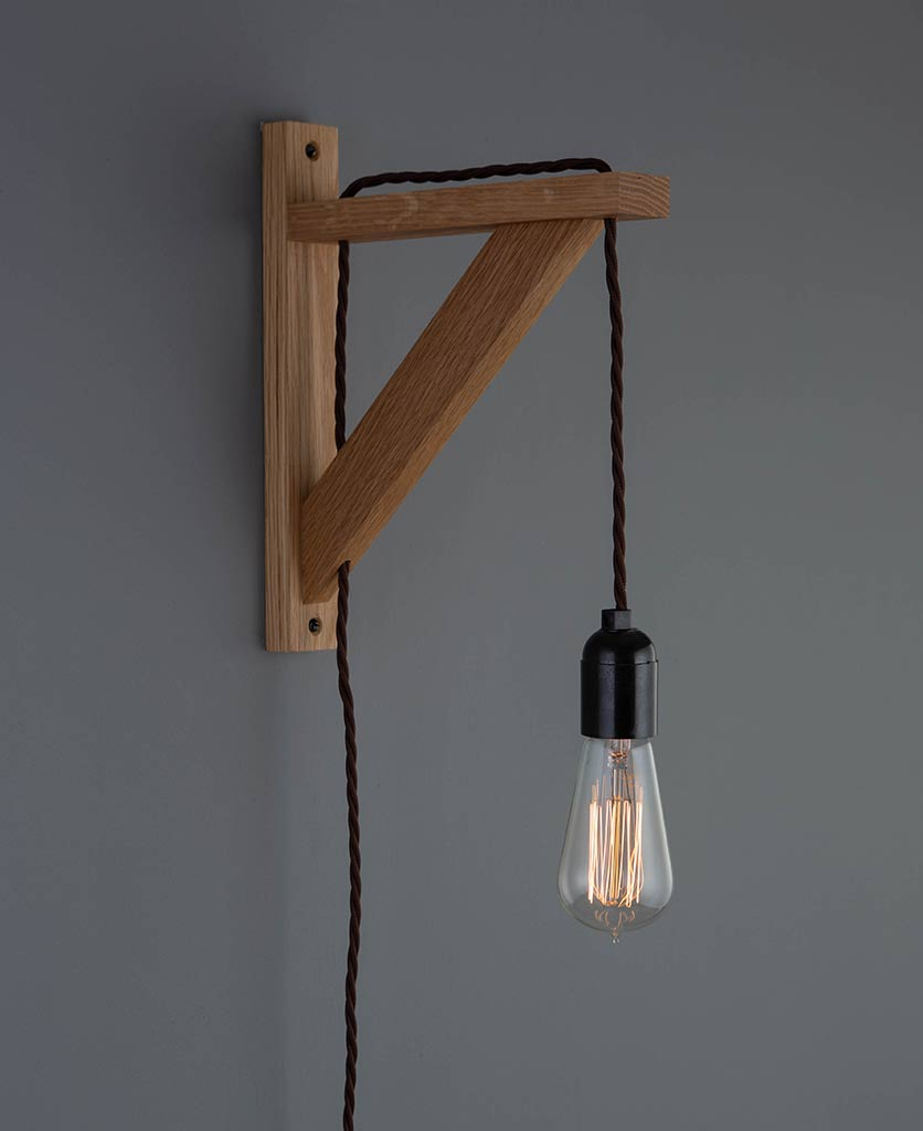 hebden wall light brown twisted