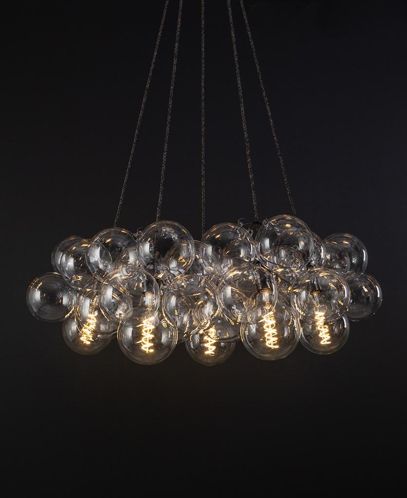 large bubble chandelier bronze