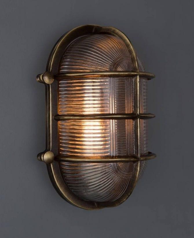big steve aged brass bulkhead light