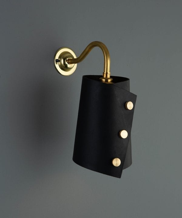 Leather Cuff Wall Light