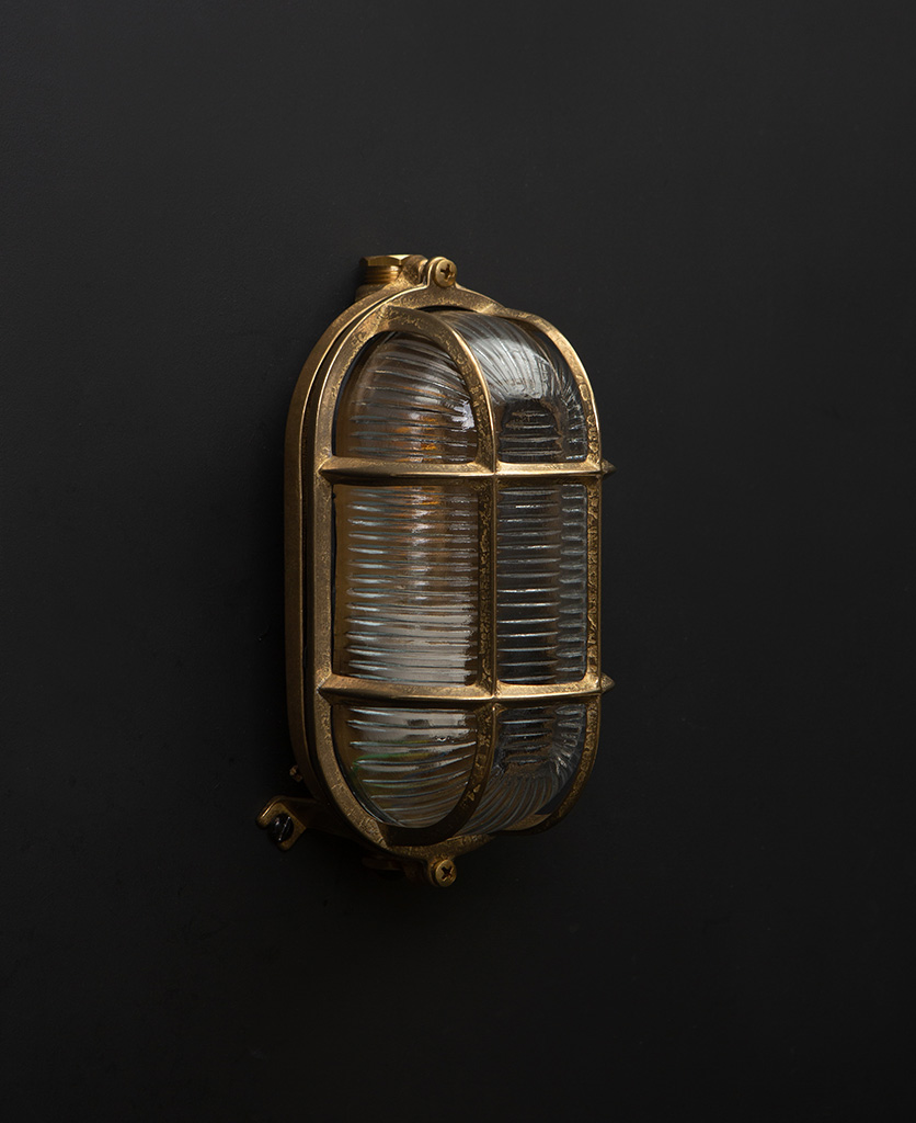 dave gold bulkhead wall light