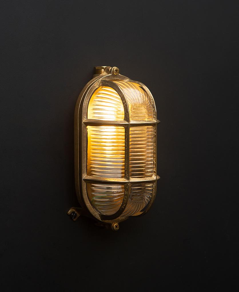 dave gold bulkhead wall light with bulb