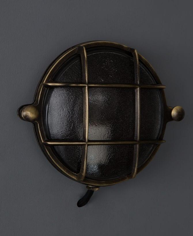 bulkhead light mark aged brass