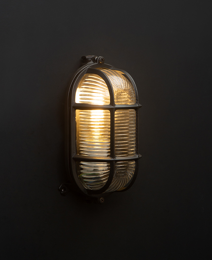 dave pewter bulkhead wall light with bulb