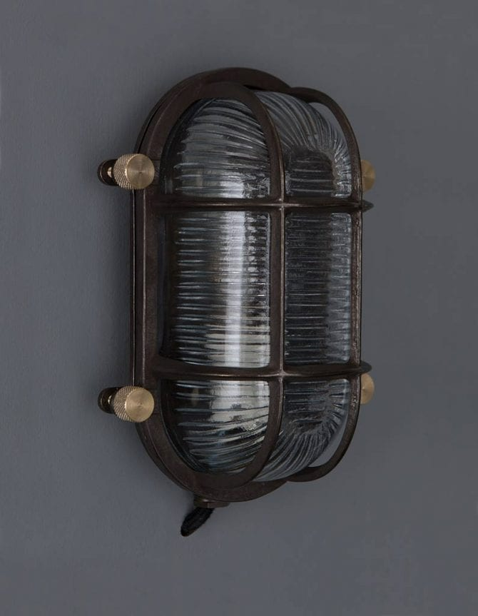 bulkhead light steve pewter posh