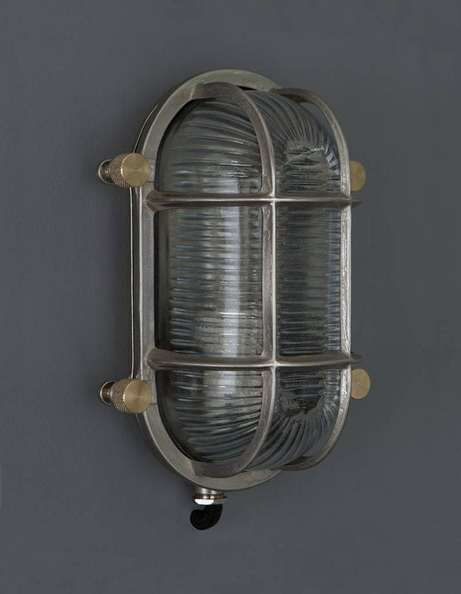 bulkhead light steve silver posh