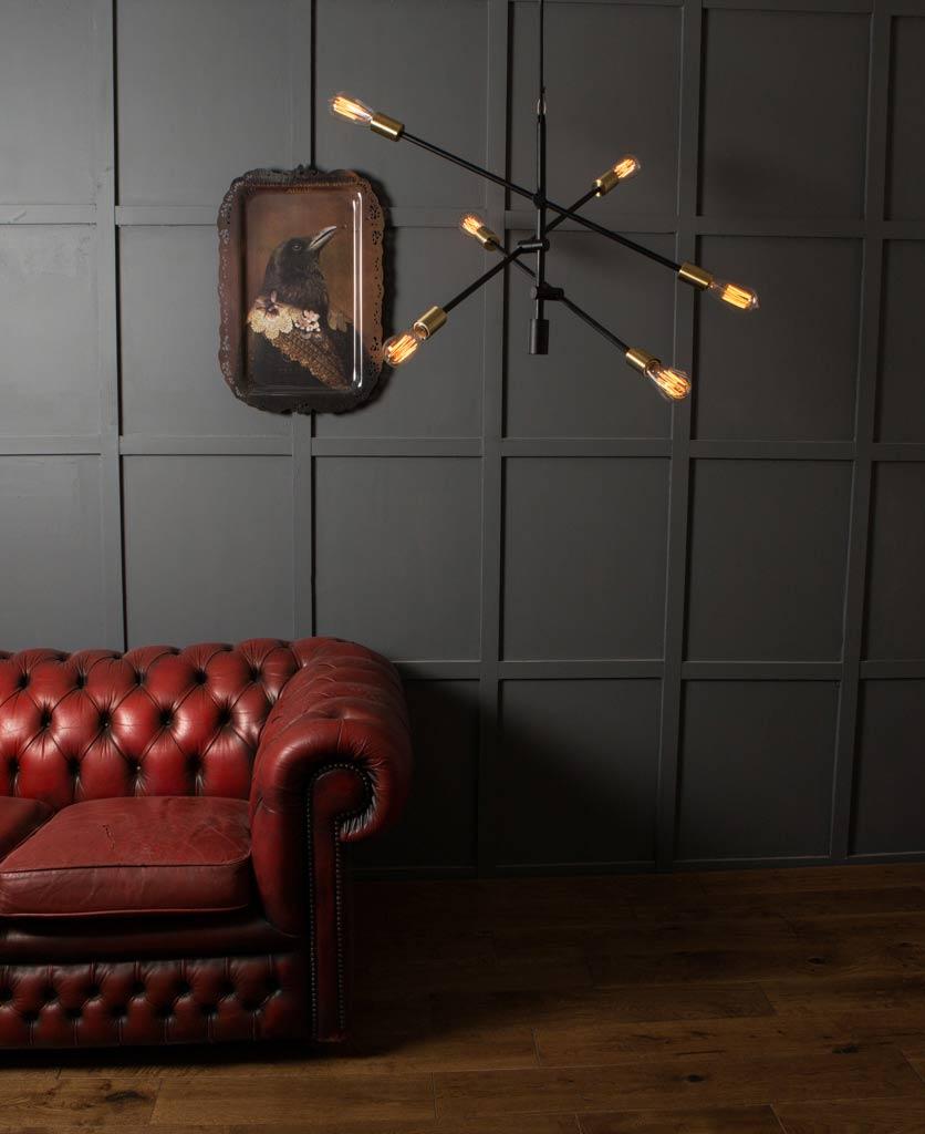 Trikonasana Arm Ceiling Light