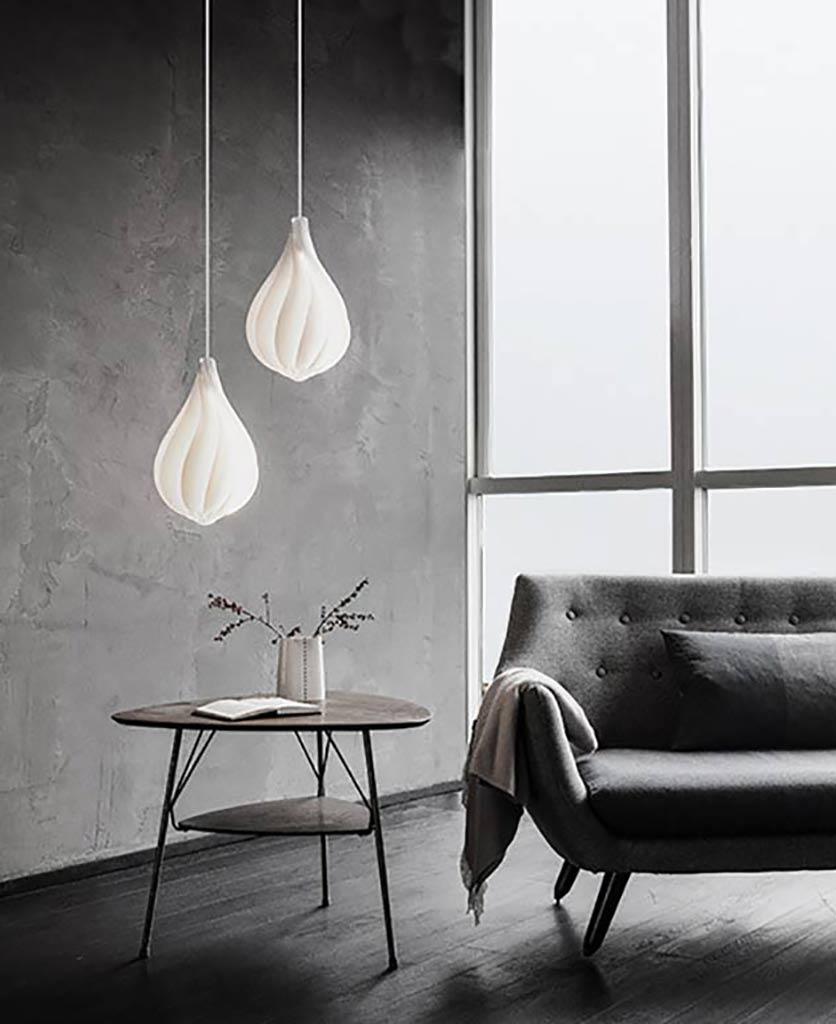 Ceiling Lamp Shades At Next: UMAGE Alva Pendant Light Shade In White, Mini & Medium