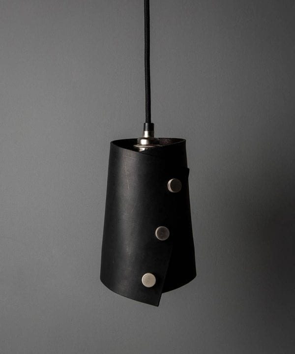 Leather Cuff Pendant Light