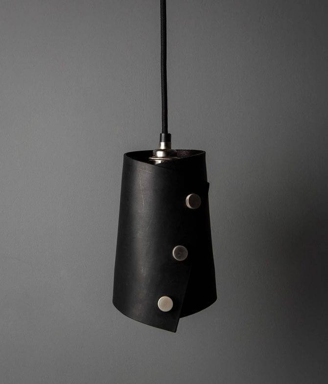 Leather Cuff Pendant Light