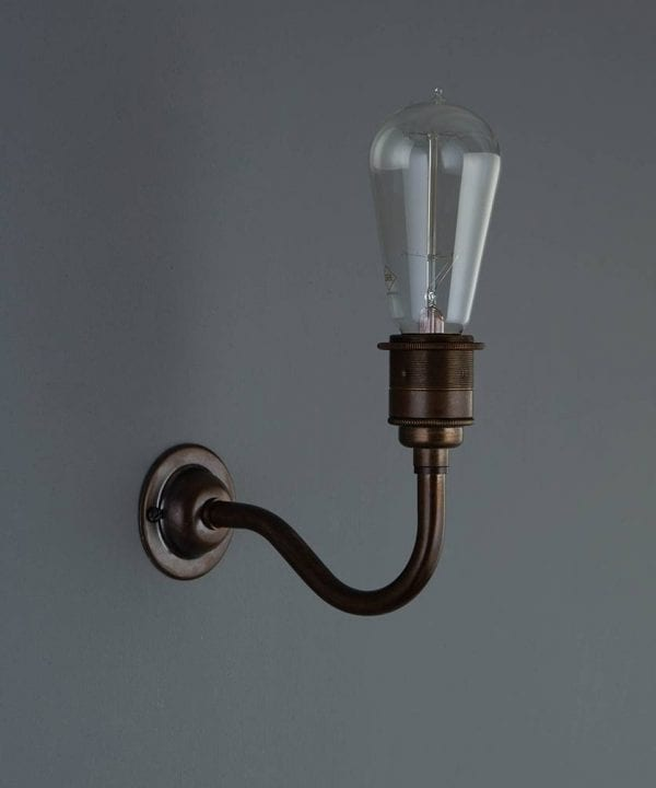 Bramley vintage metal wall light