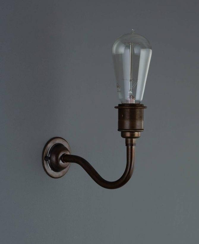 Bramley vintage metal wall light
