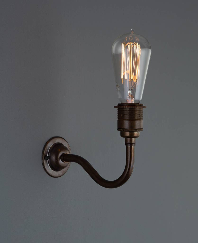 Bramley Vintage Metal Wall Light Uplighter Or Downlighter