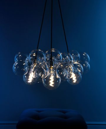 3 multi-point bubble pendant light