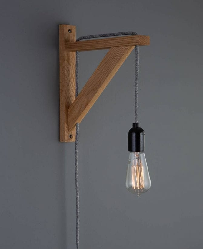 Hebden rustic bedroom wall light