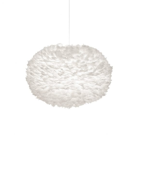 extra large white feather light shade by Vita lighting