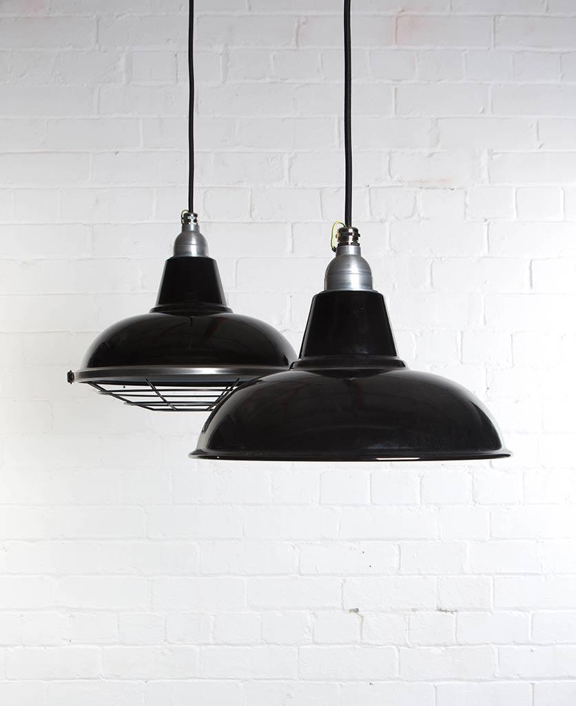 Industrial Lighting: MORLEY Industrial Lighting Enamel Factory Style Pendants
