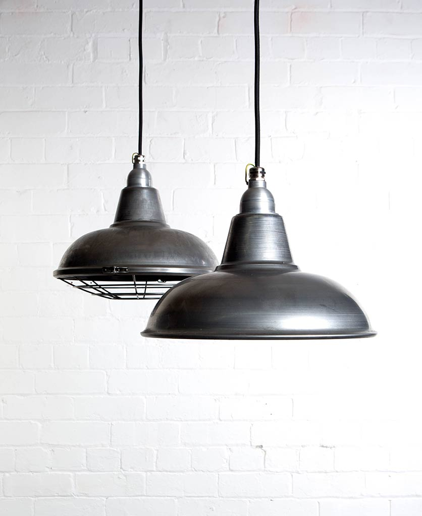Morley Lighting Enamel Factory Style Pendants