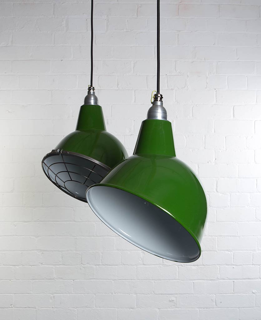 Oulton Lighting Enamel Factory Style Pendants