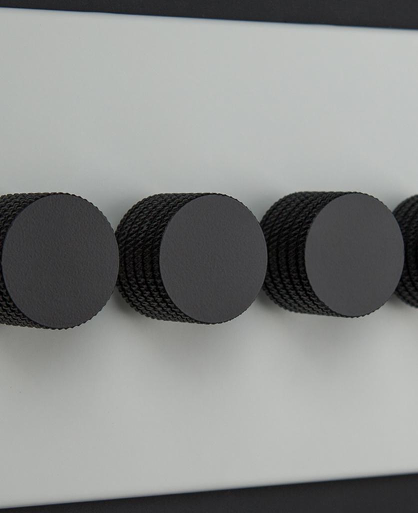 white and black 4g quadruple dimmer switch