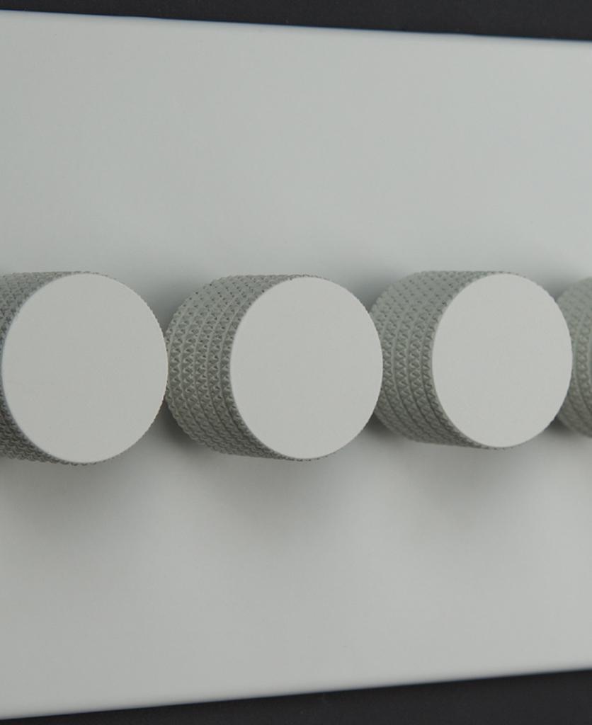 white 4g quadruple dimmer switch