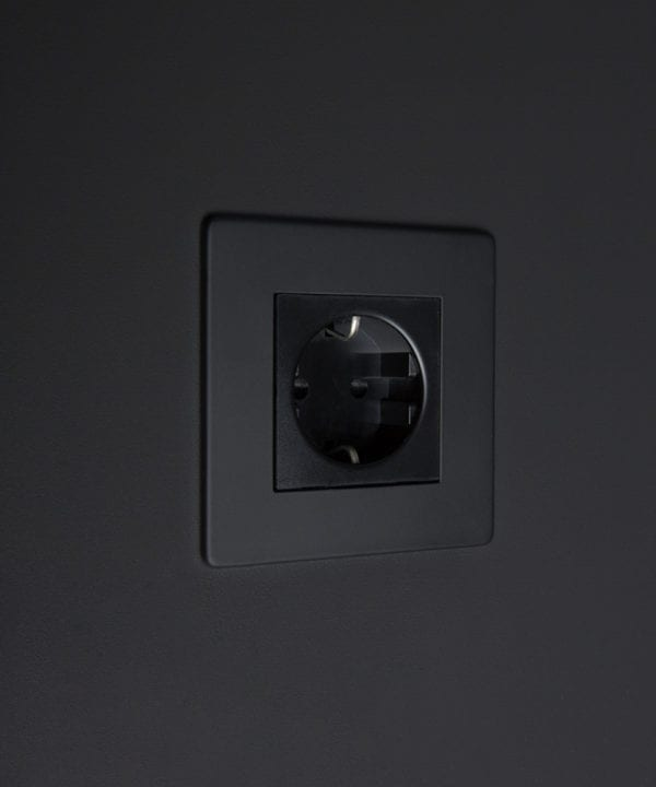 black schuko socket