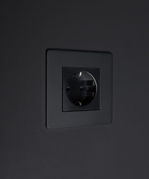black schuko socket