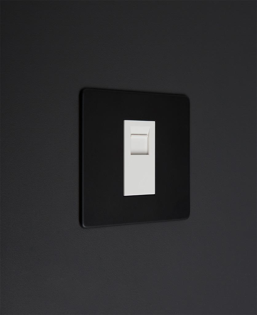 black and white single port